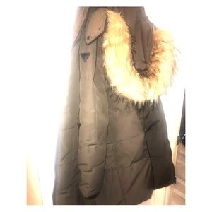 Guess Brown Parka Women's Size Large